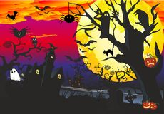 Composition for Halloween Stock Images
