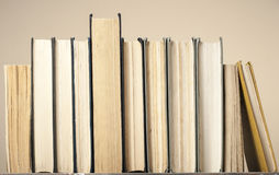 Composition of hardback books. Back to school.Education background Copy space for text. royalty free stock photos