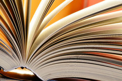 Composition with hardcover books in the library Royalty Free Stock Image