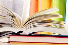 Composition with hardcover books in the library Stock Photography