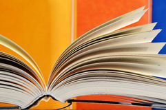 Composition with hardcover books in the library Stock Photo