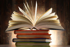Composition with hardcover books Royalty Free Stock Photography