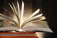 Composition with hardcover books Royalty Free Stock Photos