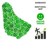Composition heureuse de carte des Barbade de vecteur des sourires Photographie stock libre de droits