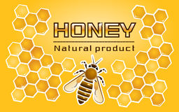 «Honey» Label Royalty Free Stock Photography