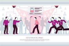 Composition horizontale en technologies d'identification illustration libre de droits
