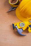Composition of house improvement tools  on wood Stock Photography