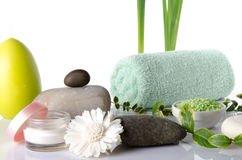 Composition of hygiene and wellness accessories Royalty Free Stock Photo