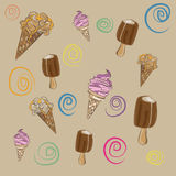 Composition of ice creams Stock Images
