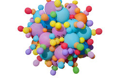 The composition of the inflatable balloons Stock Photography