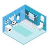 Composition intérieure en salle de bains illustration stock
