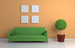 Composition intérieure moderne Image stock