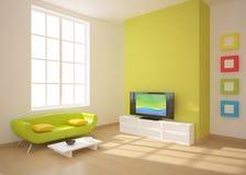 Composition intérieure verte illustration libre de droits