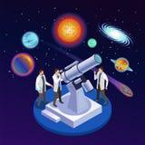 Composition isométrique en astrophysique illustration de vecteur