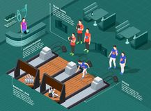 Composition isométrique en concurrence de bowling illustration libre de droits