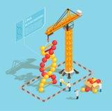 Composition isométrique en GMO illustration de vecteur