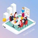 Composition isométrique en ligne de entraînement en affaires illustration libre de droits