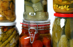 Composition of jars Stock Photos