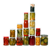 Composition of jars Stock Images