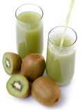 Composition with kiwi juice poured into a glass Royalty Free Stock Photography