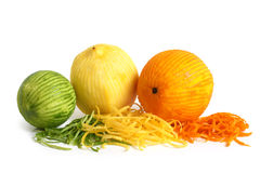 The composition of lemon, lime and orange royalty free stock images