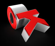 Composition of letters ok.3D illustration. Royalty Free Stock Photography