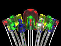 Composition from light emitting diodes Royalty Free Stock Images