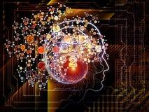 Conceptual Human Technology vector illustration