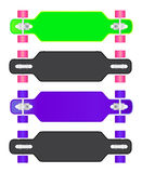 The composition of longboard. Eps10  illustration Royalty Free Stock Photography