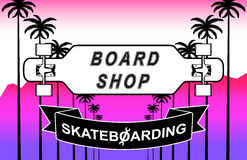 The composition of longboard. Eps10  illustration Stock Image