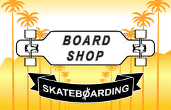 The composition of longboard. Eps10 vector illustration Royalty Free Stock Photo