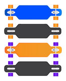 The composition of longboard. Eps10 vector illustration Stock Photos