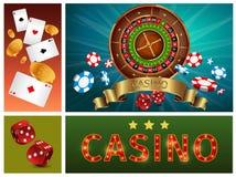 Composition lumineuse en casino réaliste illustration libre de droits