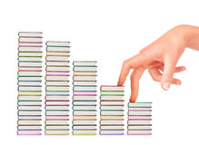Composition made up of a stack of books royalty free stock photos