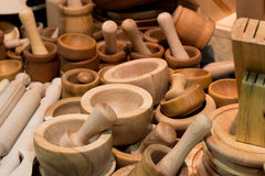 Composition of many bamboo cups Royalty Free Stock Images
