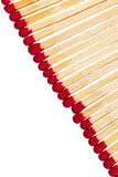 Composition of matches with rad heads isolated on white background Stock Photography