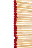 Composition of matches with rad heads isolated on white backgrounf Royalty Free Stock Image