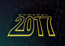 2017 composition. May the force be with you in 2017 Stock Image