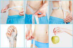 The composition of measuring waist Stock Image