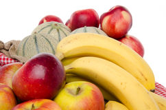 Composition of melons, nectarines, apples and bananas Royalty Free Stock Image