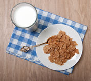 Composition of milk and flocks Stock Image