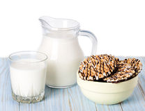 Composition milk in a jug Stock Photography