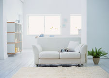 Composition of Modern bright living room Stock Image