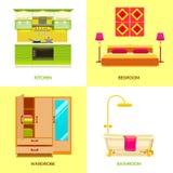 Composition moderne en conception intérieure illustration stock