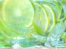 Composition mohito cocktail. Cold fresh lemonade drink. royalty free stock photo