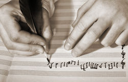 Composition of music Stock Photo