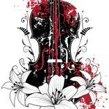 Composition musicale florale illustration de vecteur