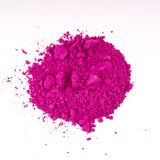 Natural pink colored pigment powder. Composition of natural colored pigments in powder form stock photos