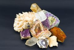 Composition of natural gem stones Stock Photography