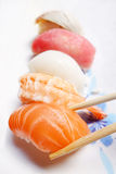 The composition of nigiri sushi Royalty Free Stock Photo
